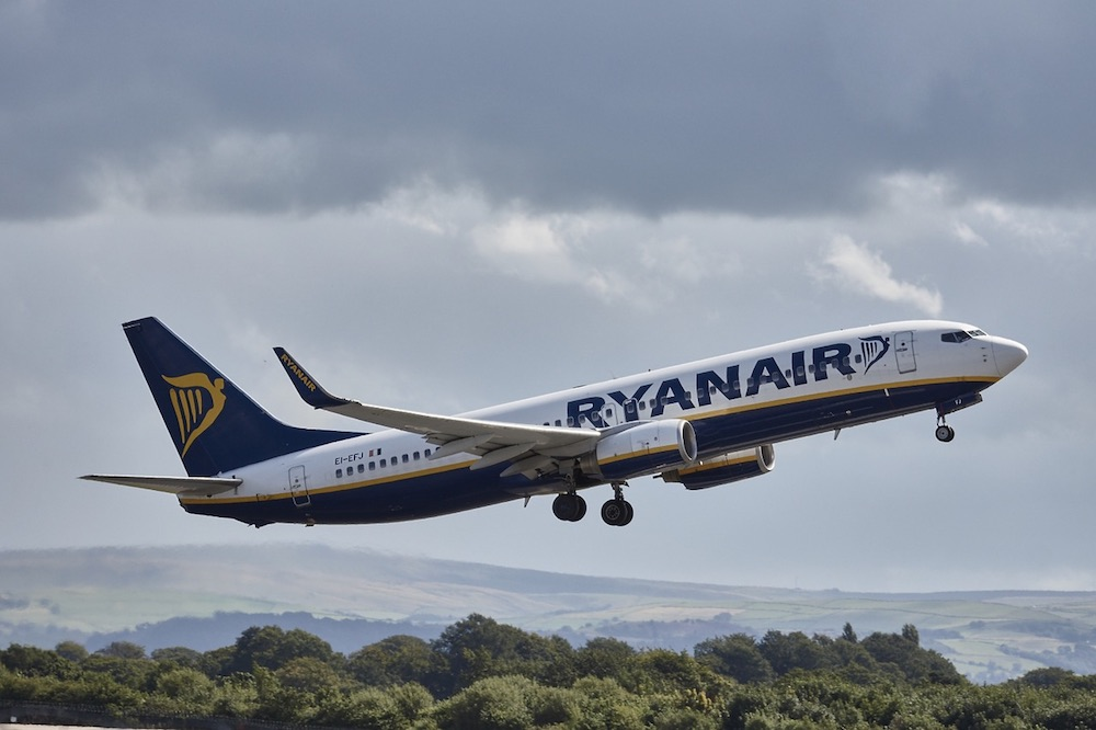 Ryan Air Budget airplane