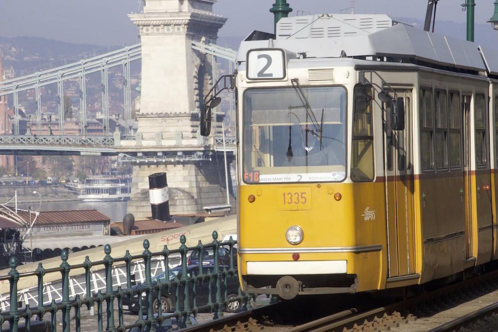 Budapest Pictures: Hungary tram line